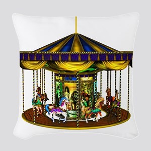 goldencarousel Woven Throw Pillow