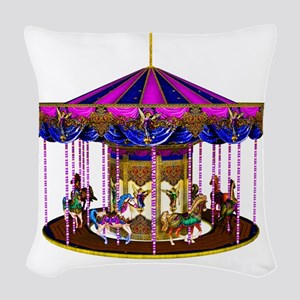 carousel Woven Throw Pillow