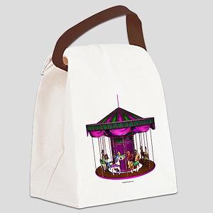 lpurplecarousel Canvas Lunch Bag