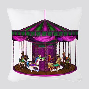 lpurplecarousel Woven Throw Pillow