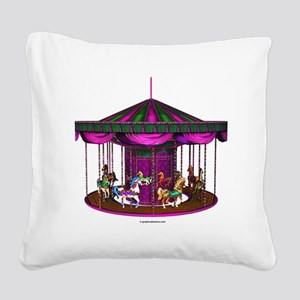 lpurplecarousel Square Canvas Pillow