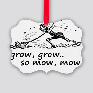 lawnmowing Picture Ornament