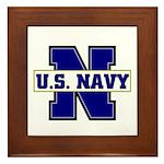 U S Navy Framed Tile