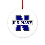 U S Navy Ornament (Round)