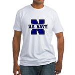 U S Navy Fitted T-Shirt