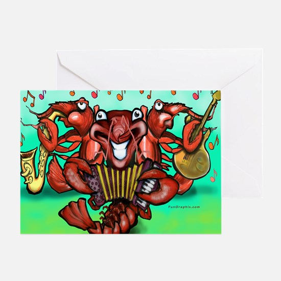 Crawfish Band Blanket Greeting Card