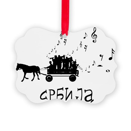 Serbian Party Picture Ornament