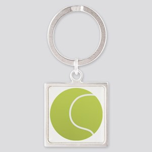 Tennis Ball Icon Square Keychain