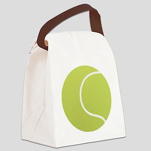 Tennis Ball Icon Canvas Lunch Bag