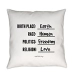 Birth Place Earth Everyday Pillow