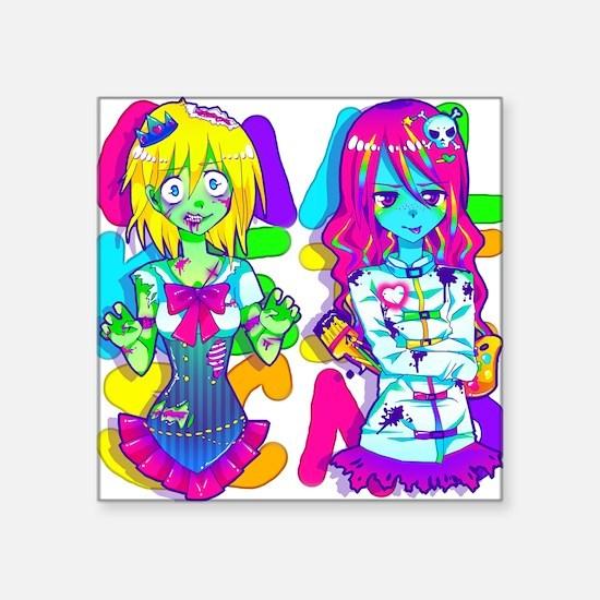 """double Square Sticker 3"""" x 3"""""""