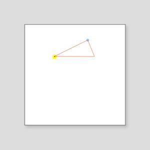 "PlanetaryOrbitsByKeplerWhit Square Sticker 3"" x 3"""