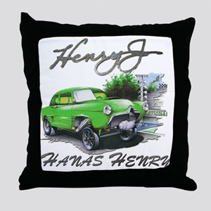 Hanas Henry Race Throw Pillow