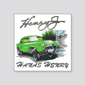 "Hanas Henry Race Square Sticker 3"" x 3"""