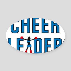 Cheerleader Oval Car Magnet