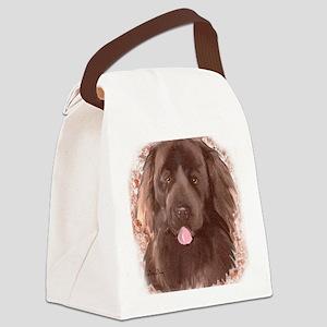 best brown newfy portrait Canvas Lunch Bag