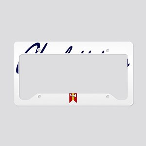 Charlottetown Script W License Plate Holder