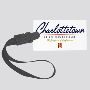 Charlottetown Script W Large Luggage Tag
