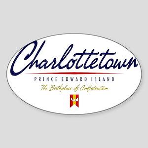 Charlottetown Script W Sticker (Oval)