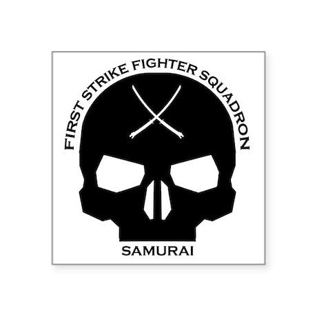 """samurai-fighter-squadron-BL Square Sticker 3"""" x 3"""""""