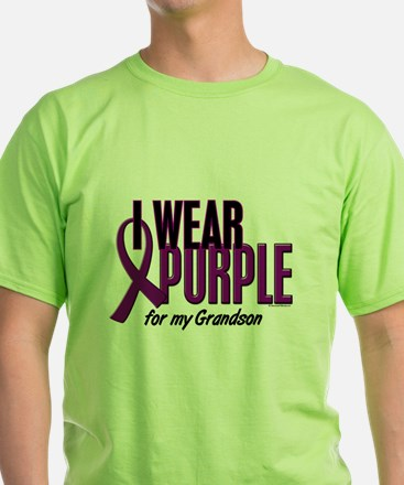 I Wear Purple For My Grandson 10 T-Shirt