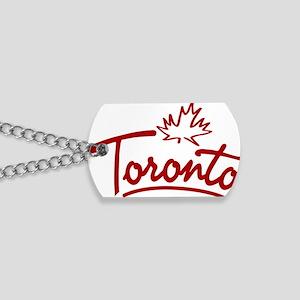Toronto Leaf Script W Dog Tags