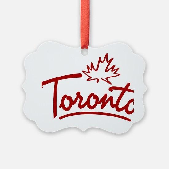 Toronto Leaf Script W Ornament
