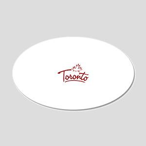 Toronto Leaf Script W 20x12 Oval Wall Decal