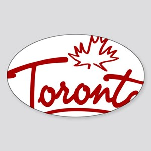 Toronto Leaf Script W Sticker (Oval)