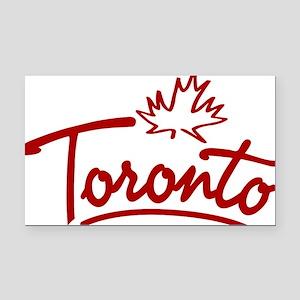 Toronto Leaf Script W Rectangle Car Magnet