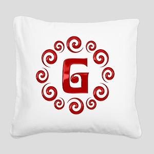 g Square Canvas Pillow