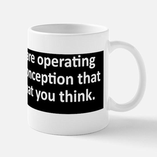 Evident misconception black bumper stic Mug