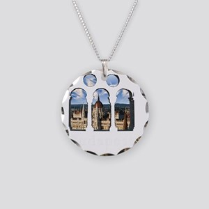 Budapest Parlament Necklace Circle Charm