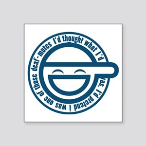 "laughing-man-1 Square Sticker 3"" x 3"""