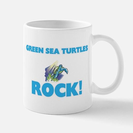 Green Sea Turtles rock! Mugs