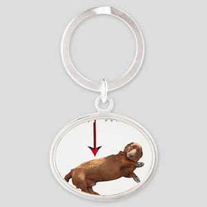 Wiener Oval Keychain