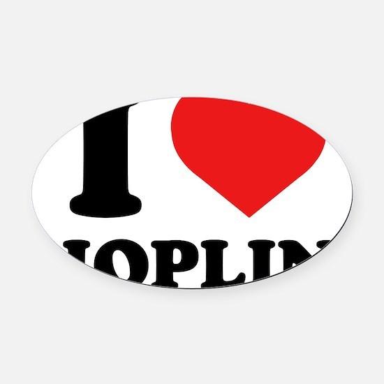 iHeartJoplin Oval Car Magnet