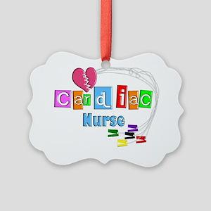 Cardiac Nurse EKG cables Picture Ornament