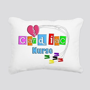 Cardiac Nurse EKG cables Rectangular Canvas Pillow