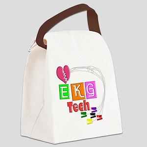 EKG Tech Canvas Lunch Bag