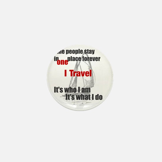 i travel split words Mini Button