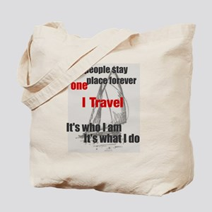 i travel split words Tote Bag