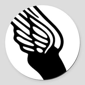 winged foot mercury symbol Round Car Magnet