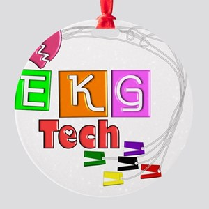 EKG Tech Round Ornament