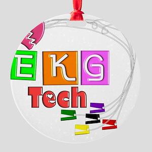 EKG Tech Round Ornament