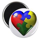 Puzzle Heart Magnet