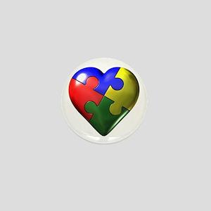 Puzzle Heart Mini Button
