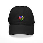Puzzle Heart Black Cap