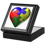 Puzzle Heart Keepsake Box