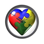 Puzzle Heart Wall Clock